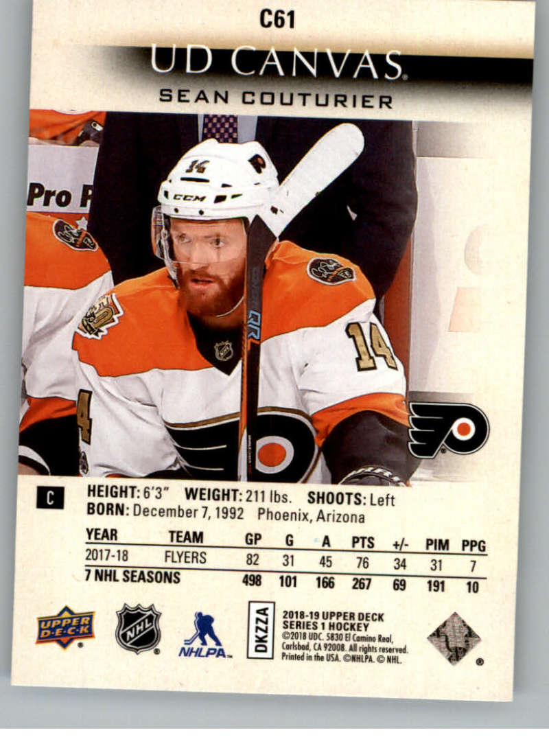 2018-19-Upper-Deck-Canvas-18-19-UD-Series-One-Hockey-Cards-Pick-From-List miniature 77