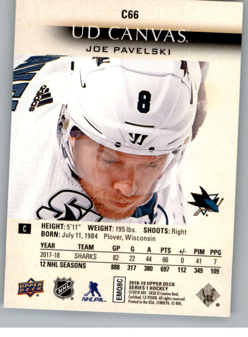 2018-19-Upper-Deck-Canvas-18-19-UD-Series-One-Hockey-Cards-Pick-From-List miniature 81