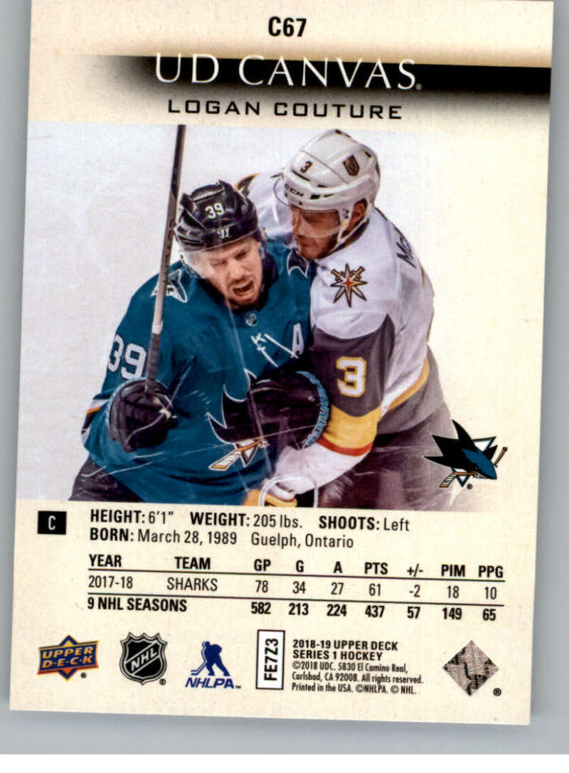 2018-19-Upper-Deck-Canvas-18-19-UD-Series-One-Hockey-Cards-Pick-From-List miniature 83