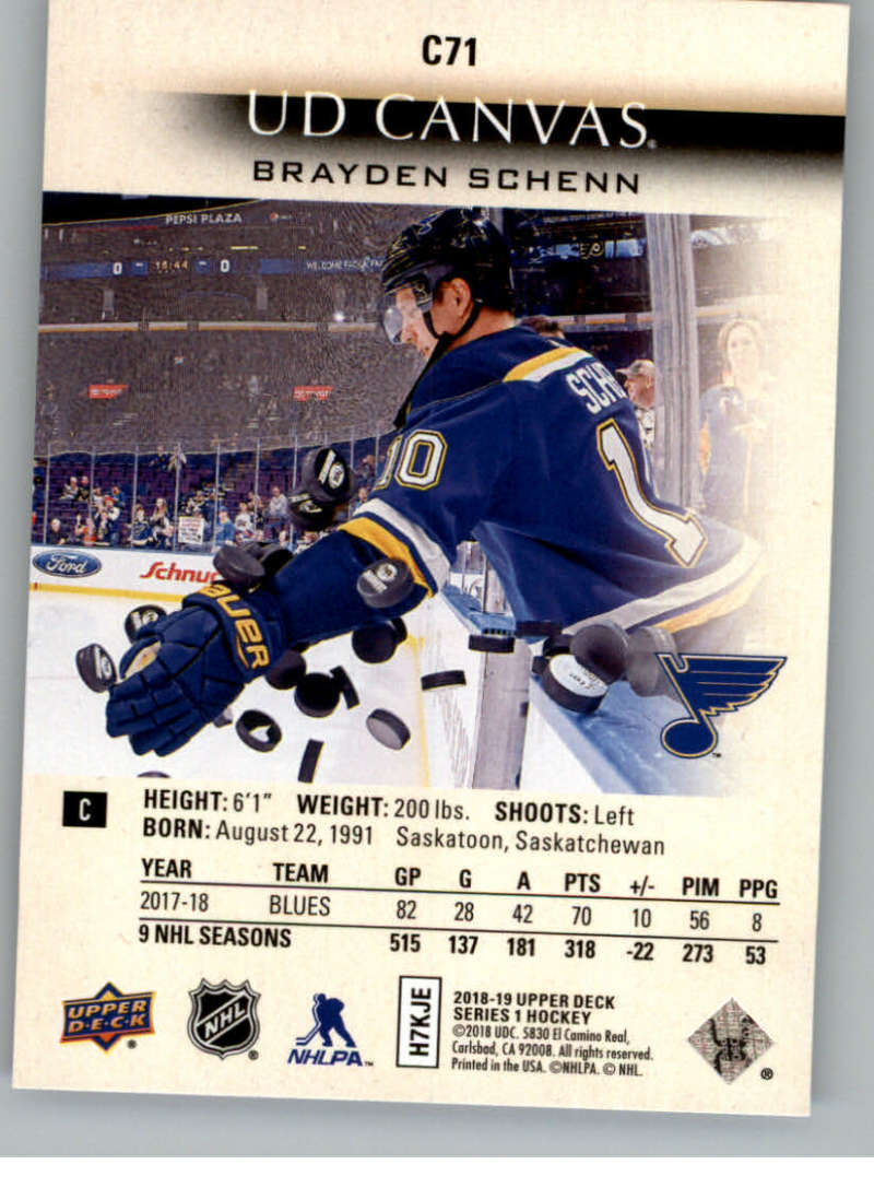 2018-19-Upper-Deck-Canvas-18-19-UD-Series-One-Hockey-Cards-Pick-From-List miniature 85