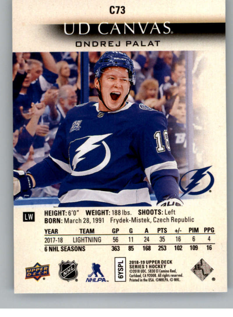 2018-19-Upper-Deck-Canvas-18-19-UD-Series-One-Hockey-Cards-Pick-From-List miniature 89