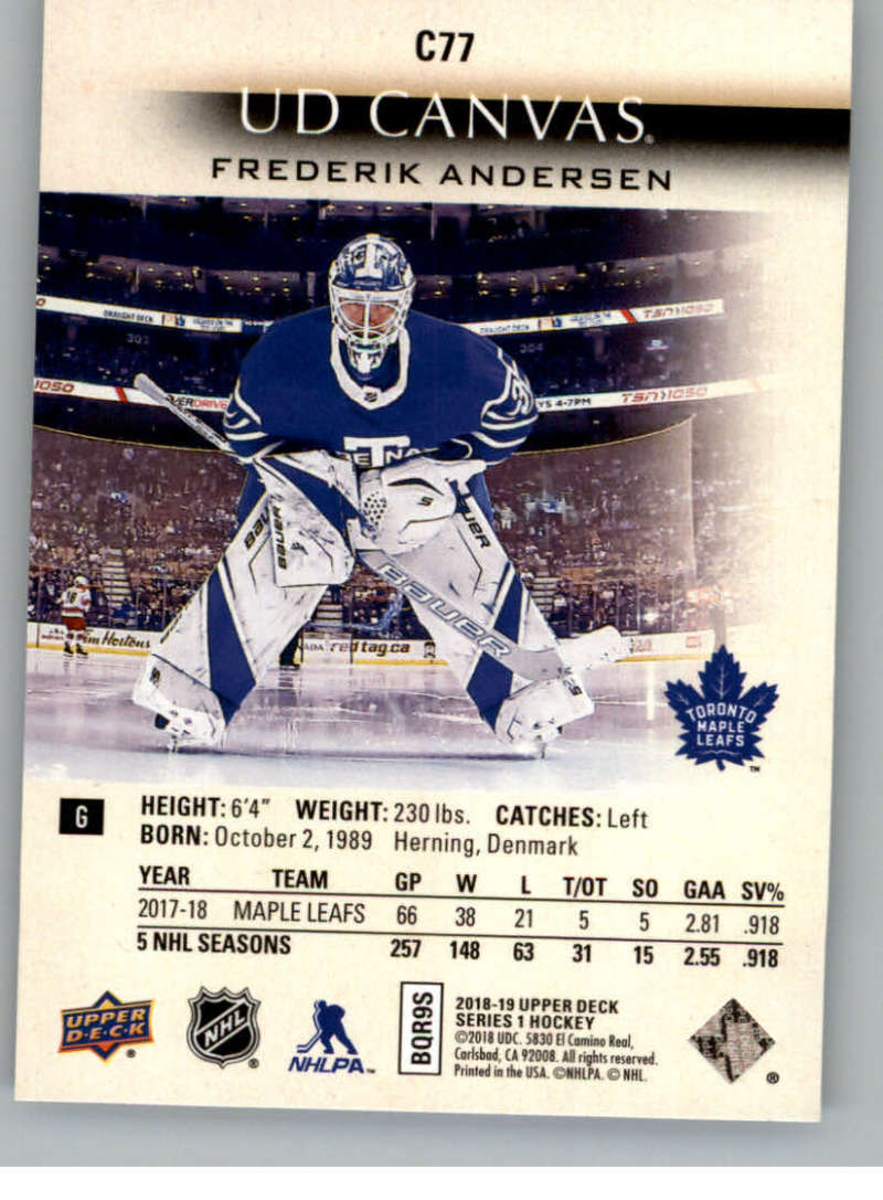 2018-19-Upper-Deck-Canvas-18-19-UD-Series-One-Hockey-Cards-Pick-From-List miniature 93