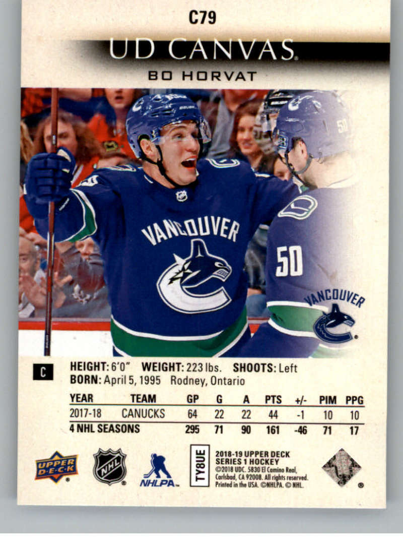 2018-19-Upper-Deck-Canvas-18-19-UD-Series-One-Hockey-Cards-Pick-From-List miniature 97