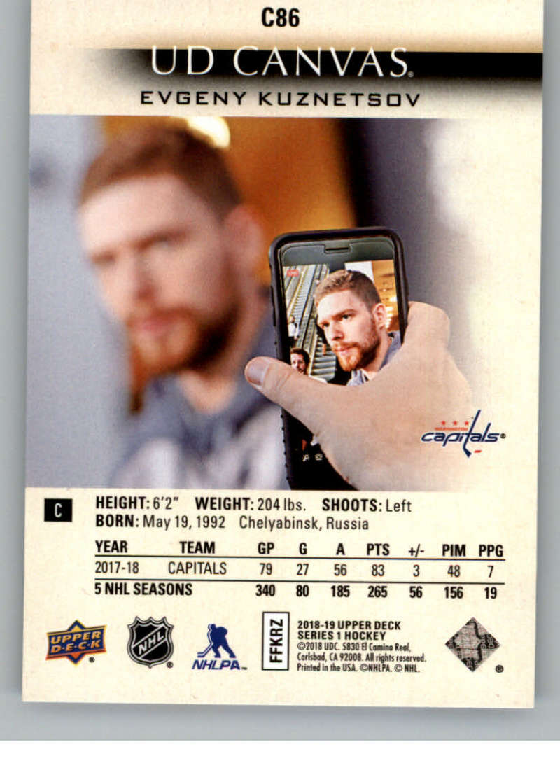 2018-19-Upper-Deck-Canvas-18-19-UD-Series-One-Hockey-Cards-Pick-From-List miniature 105