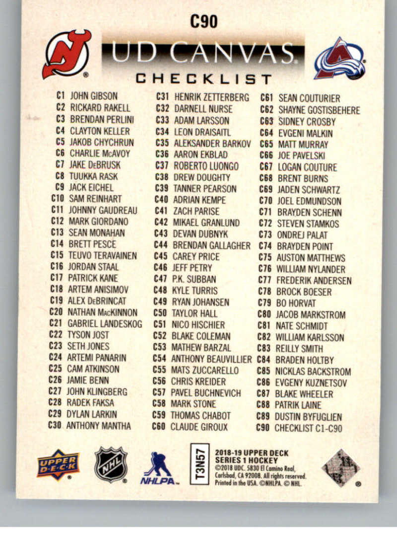 2018-19-Upper-Deck-Canvas-18-19-UD-Series-One-Hockey-Cards-Pick-From-List miniature 107