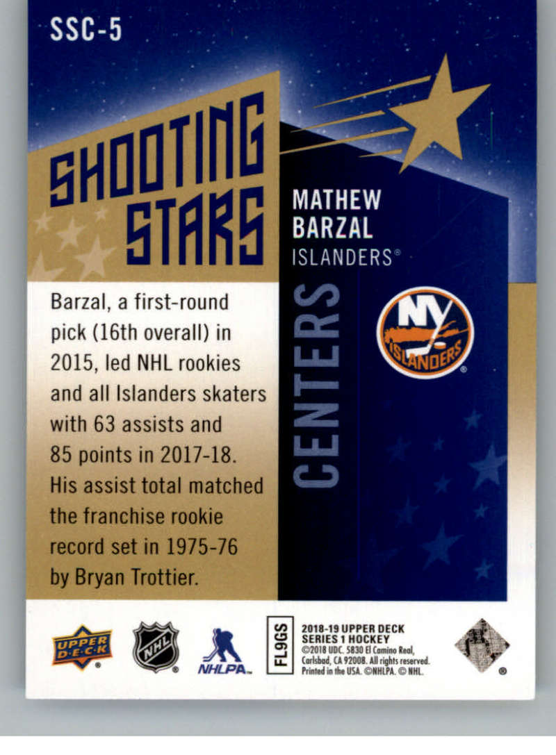 2018-19-Upper-Deck-Shooting-Stars-Blue-or-Black-Insert-Cards-Pick-From-List thumbnail 9