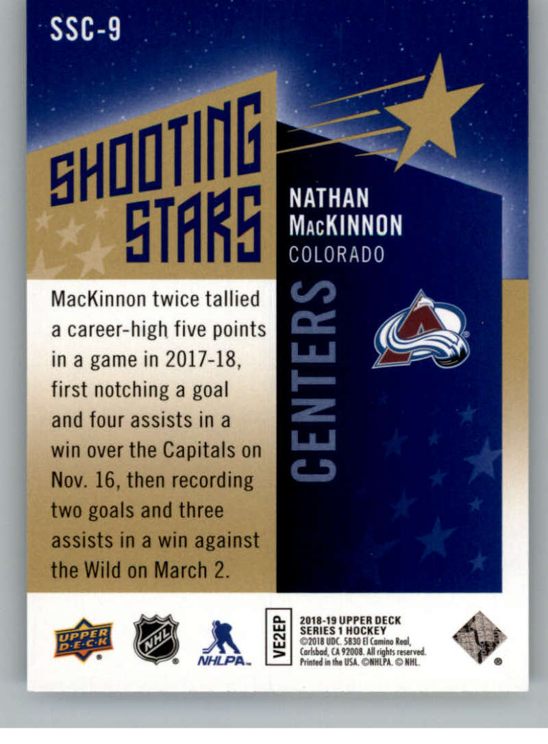 2018-19-Upper-Deck-Shooting-Stars-Blue-or-Black-Insert-Cards-Pick-From-List thumbnail 17