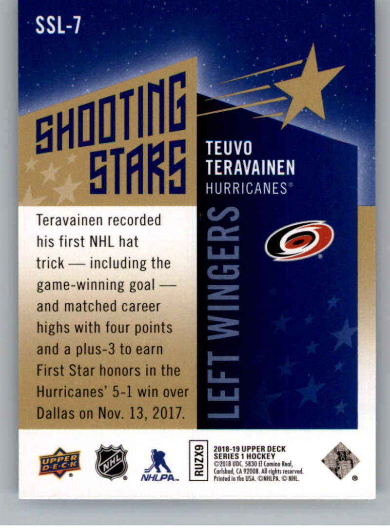 2018-19-Upper-Deck-Shooting-Stars-Blue-or-Black-Insert-Cards-Pick-From-List thumbnail 63