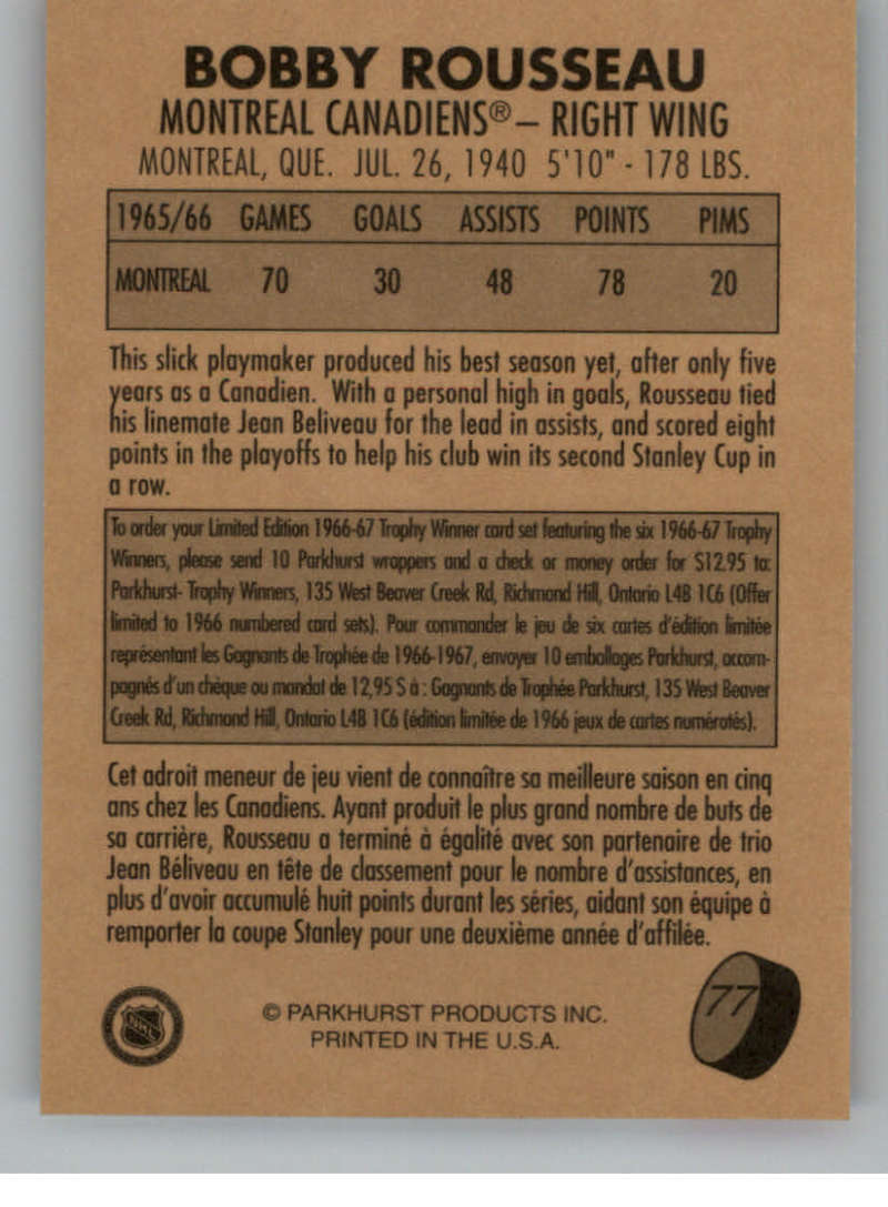 1995-96-Parkhurst-039-66-67-Hockey-Cards-Base-and-Inserts-Pick-From-List thumbnail 131