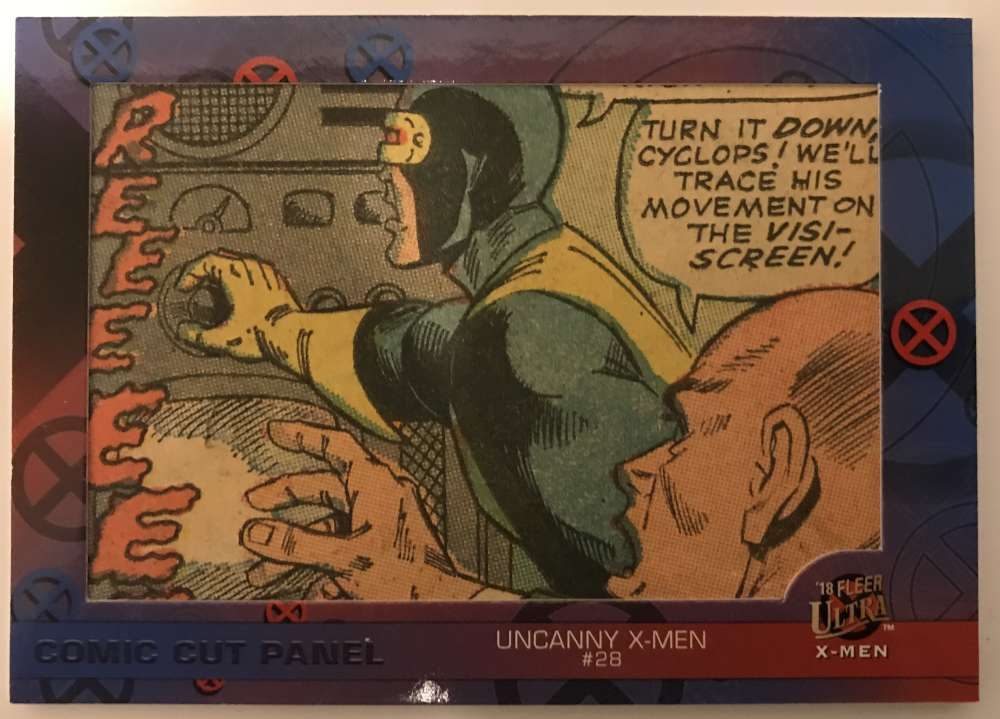 2018 Fleer Ultra X-Men Single Comic Cut Panels Non Sport #SC-UX28 Uncanny X-Men #28 SER/108  Official Marvel Trading Card by Upper Deck