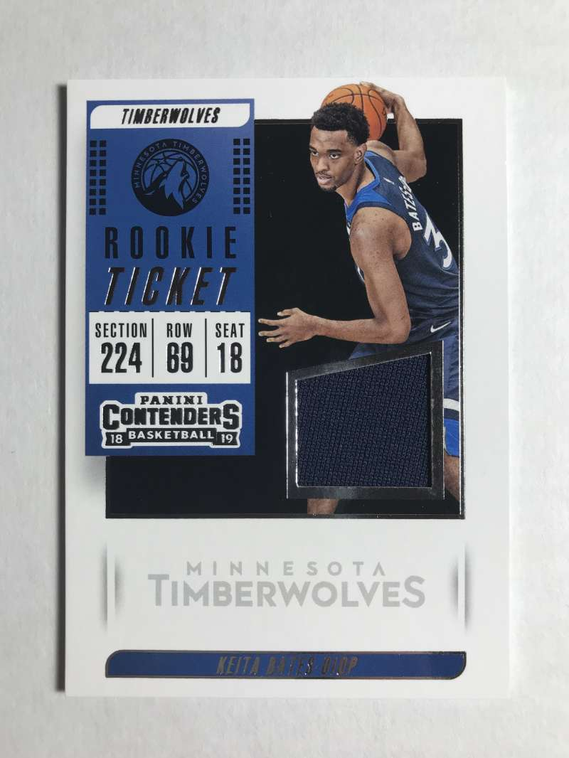 2018-19 Panini Contenders Rookie Ticket Swatches Basketball Keita Bates-Diop Jersey/Relic Minnesota Timberwolves  Official NBA Card From Panini