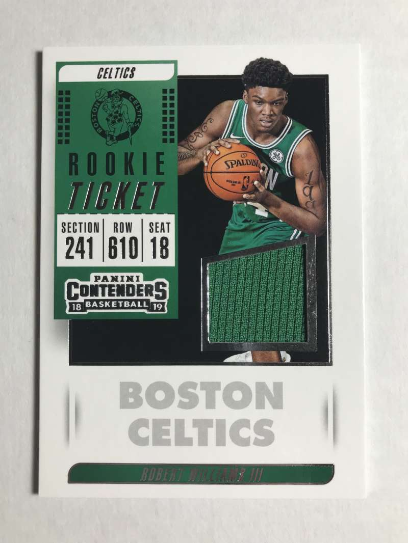2018-19 Panini Contenders Rookie Ticket Swatches Basketball Robert Williams III Jersey/Relic Boston Celtics  Official NBA Card From Panini