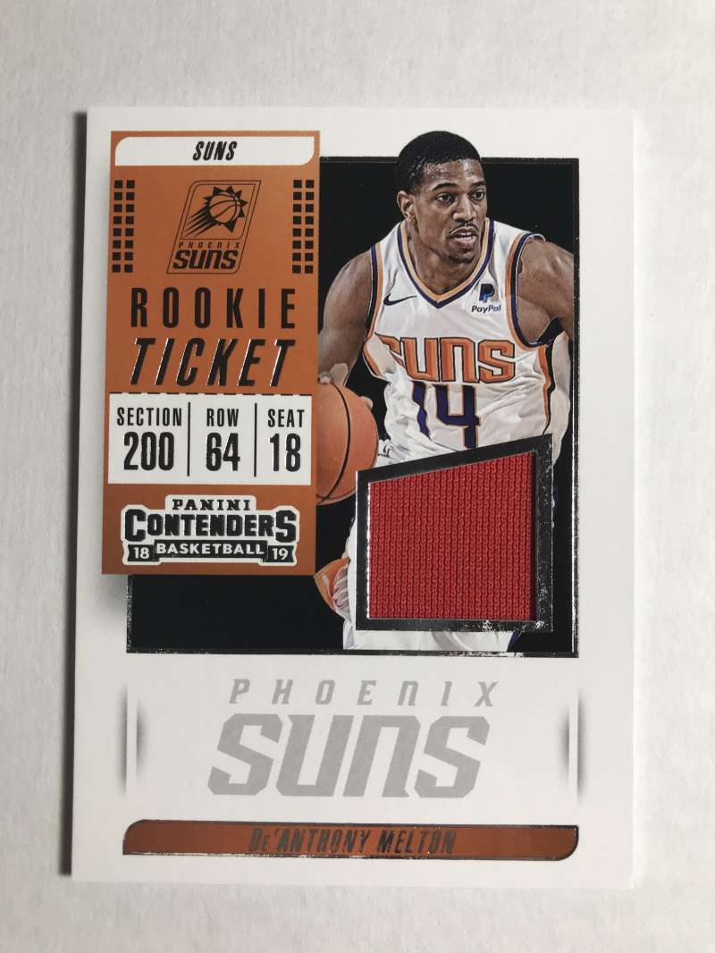2018-19 Panini Contenders Rookie Ticket Swatches Basketball Deandre Ayton Orange Jersey/Relic Phoenix Suns  Official NBA Card From Panini