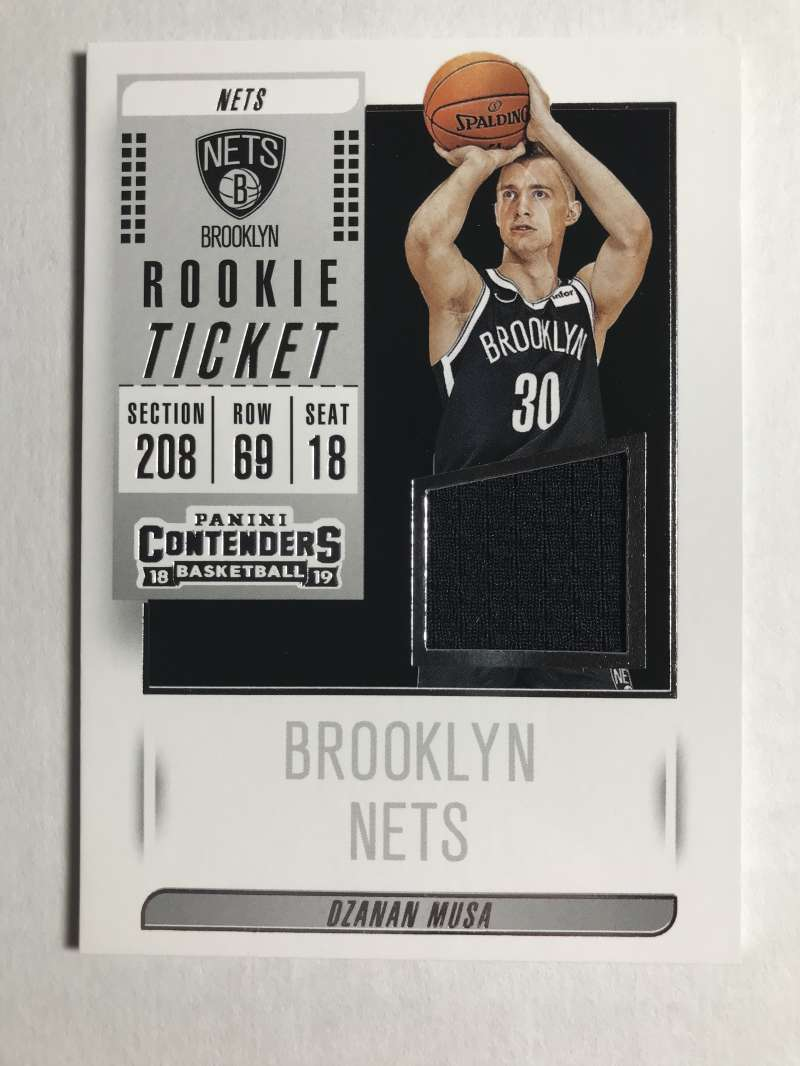 2018-19 Panini Contenders Rookie Ticket Swatches Basketball Dzanan Musa Jersey/Relic Brooklyn Nets  Official NBA Card From Panini