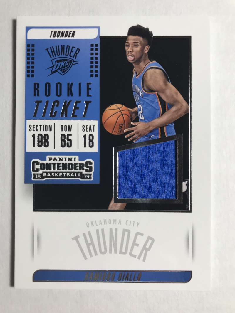 2018-19 Panini Contenders Rookie Ticket Swatches Basketball Hamidou Diallo Jersey/Relic Oklahoma City Thunder  Official NBA Card From Panini