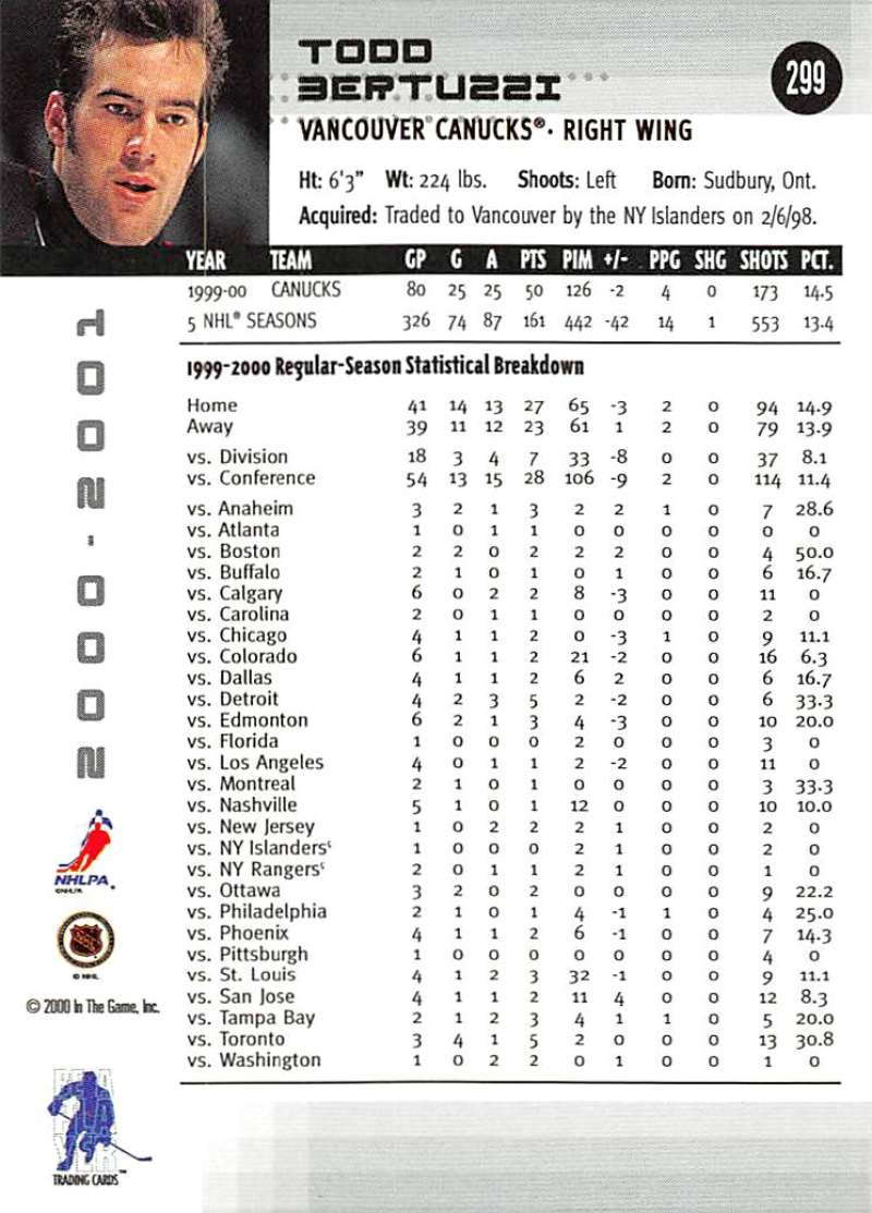 2000-01-BAP-Memorabilia-Hockey-Cards-Pick-From-List-Includes-Rookies-201-400 miniature 193