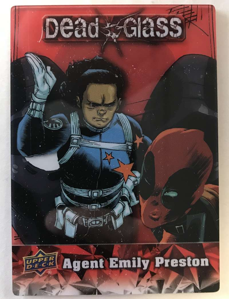 2019 Upper Deck Deadpool Deadglass NonSport Trading Card #DG4 Agent Emily Preston  Official UD Trading Card Celebrating Deadpool Comic Book