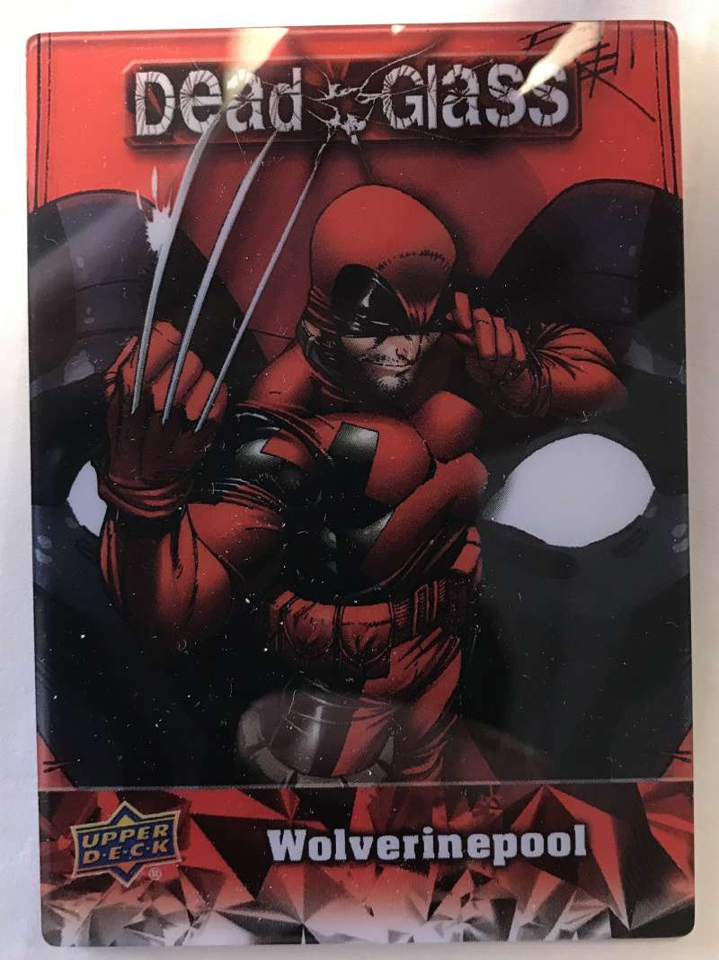 2019 Upper Deck Deadpool Deadglass NonSport Trading Card #DG18 Wolverinepool  Official UD Trading Card Celebrating Deadpool Comic Book