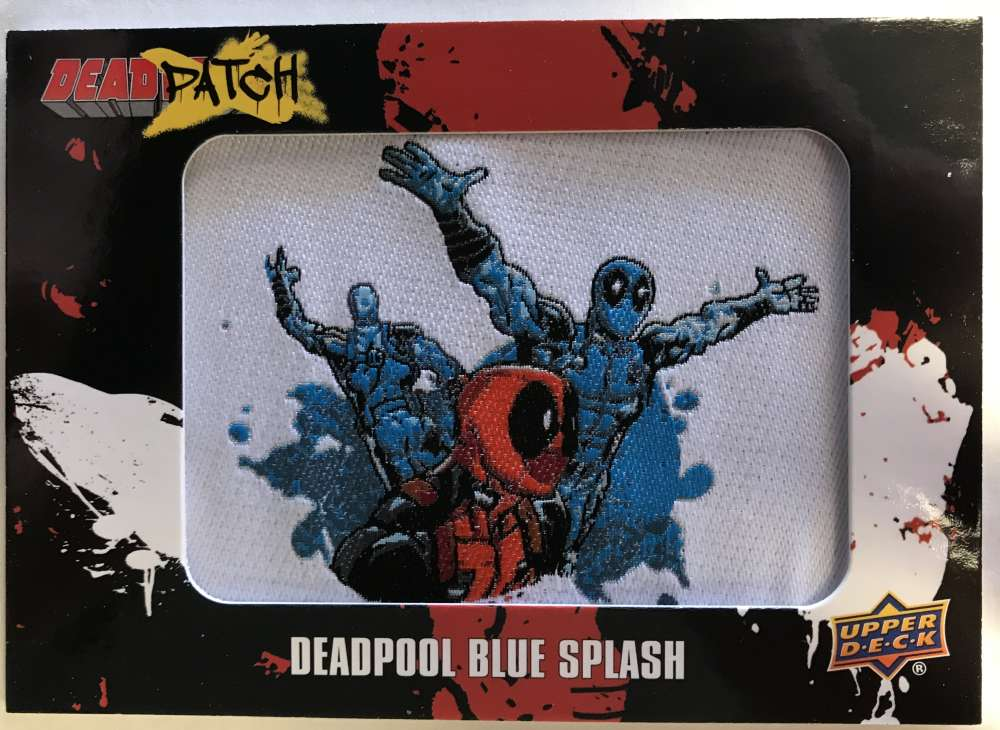 2019 Upper Deck Deadpool Deadpatch Tier 1 NonSport Trading Card #DP8 Deadpool Blue Splash Patch  Official UD Trading Card Celebrating Deadpool Comic B