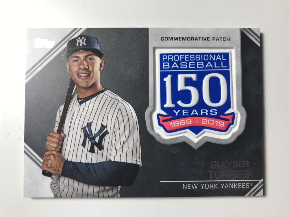 2019 Topps 150th Anniversary Commemorative Patches Baseball #AMP-GT Gleyber Torres New York Yankees  Official MLB Trading Card By Topps