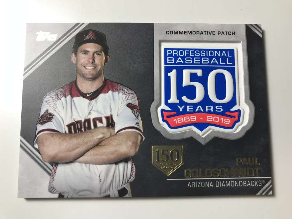 2019 Topps 150th Anniversary Commemorative Patches 150th Anniversary Baseball #AMP-PG Paul Goldschmidt SER/150 Arizona D Official MLB Trading Card By
