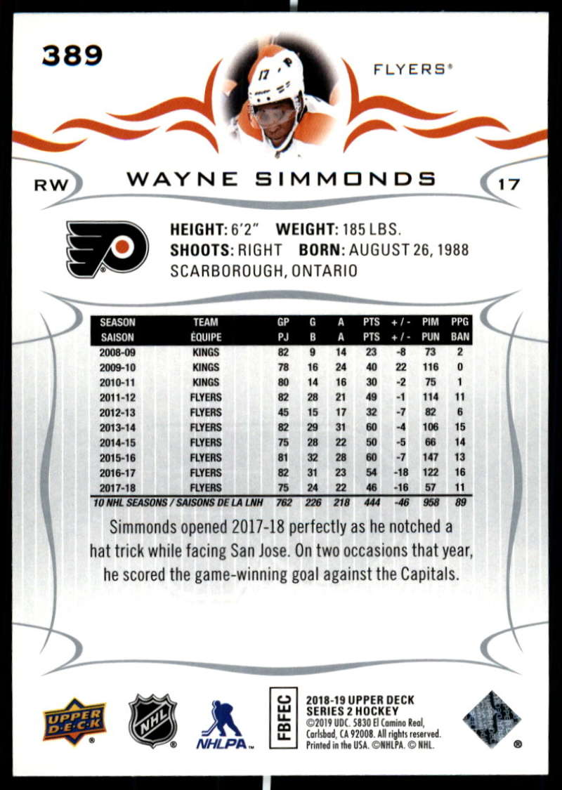 2018-19-Upper-Deck-Series-Two-Hockey-Cards-Pick-From-List-Includes-Young-Guns miniature 273