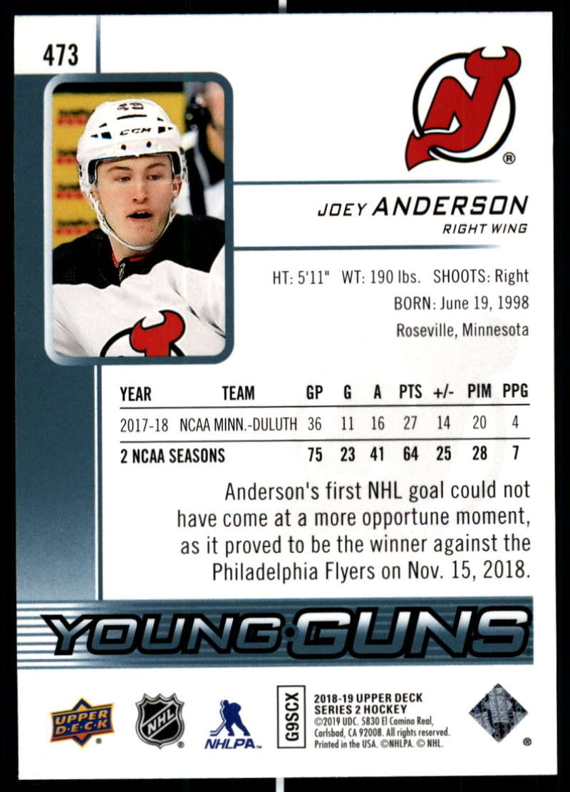 2018-19-Upper-Deck-Series-Two-Hockey-Cards-Pick-From-List-Includes-Young-Guns miniature 427