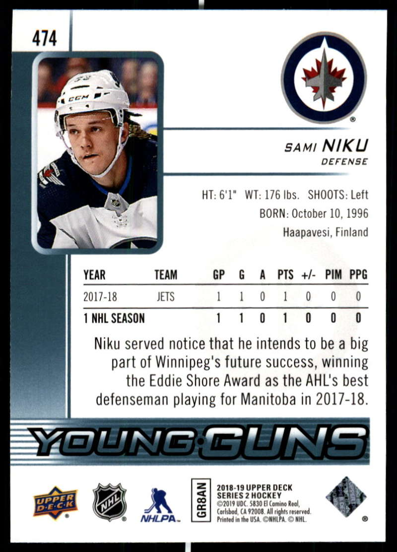 2018-19-Upper-Deck-Series-Two-Hockey-Cards-Pick-From-List-Includes-Young-Guns miniature 429