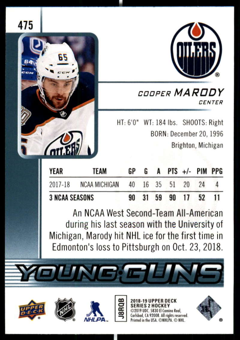 2018-19-Upper-Deck-Series-Two-Hockey-Cards-Pick-From-List-Includes-Young-Guns miniature 431