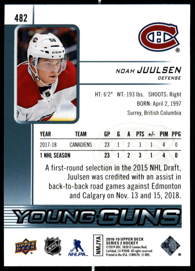 2018-19-Upper-Deck-Series-Two-Hockey-Cards-Pick-From-List-Includes-Young-Guns miniature 443