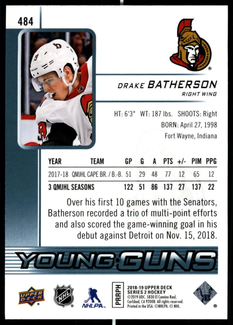2018-19-Upper-Deck-Series-Two-Hockey-Cards-Pick-From-List-Includes-Young-Guns miniature 447