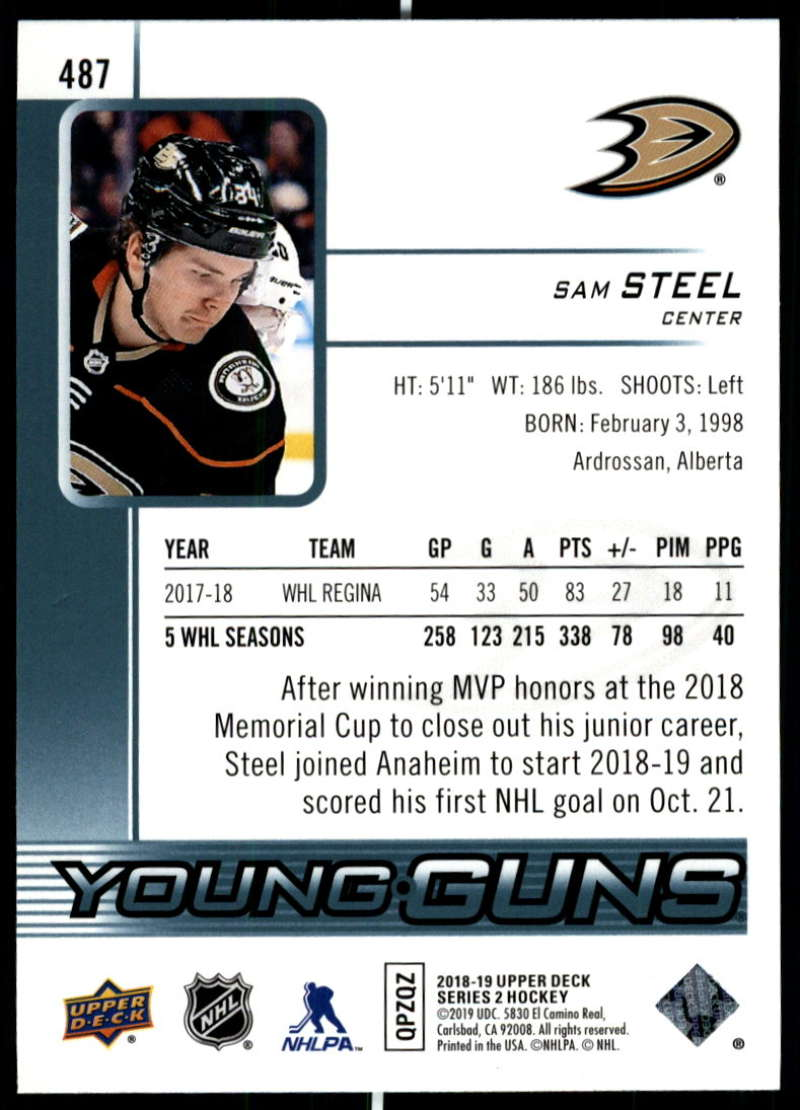 2018-19-Upper-Deck-Series-Two-Hockey-Cards-Pick-From-List-Includes-Young-Guns miniature 453