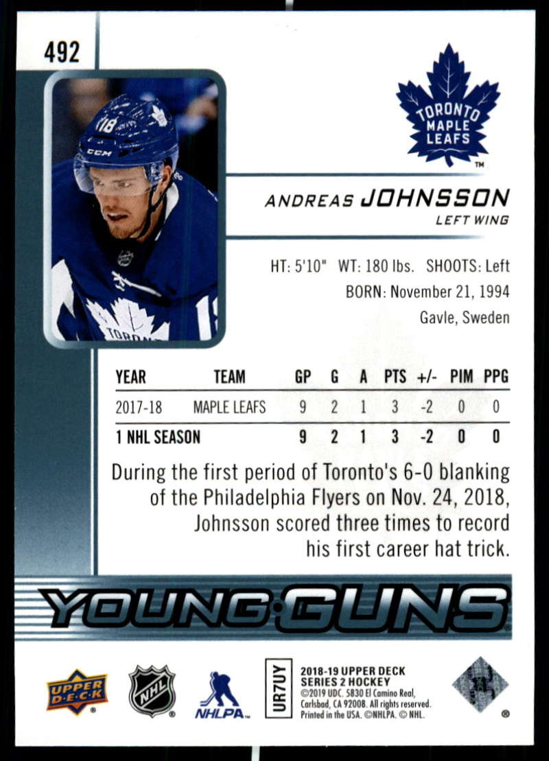 2018-19-Upper-Deck-Series-Two-Hockey-Cards-Pick-From-List-Includes-Young-Guns miniature 463