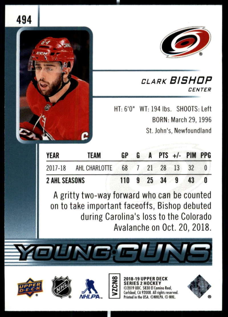 2018-19-Upper-Deck-Series-Two-Hockey-Cards-Pick-From-List-Includes-Young-Guns miniature 467