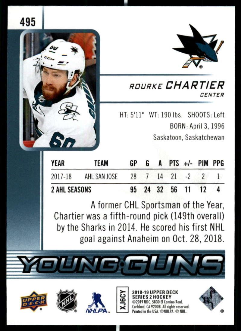 2018-19-Upper-Deck-Series-Two-Hockey-Cards-Pick-From-List-Includes-Young-Guns miniature 469