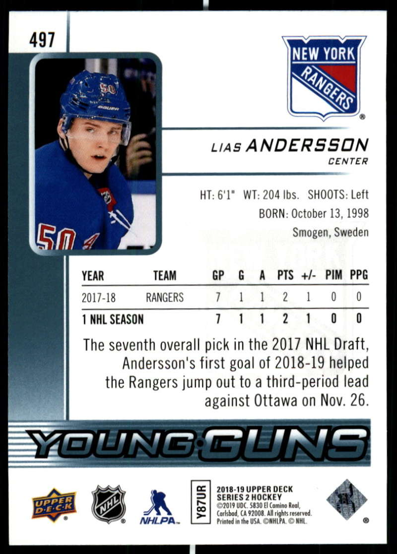 2018-19-Upper-Deck-Series-Two-Hockey-Cards-Pick-From-List-Includes-Young-Guns miniature 473
