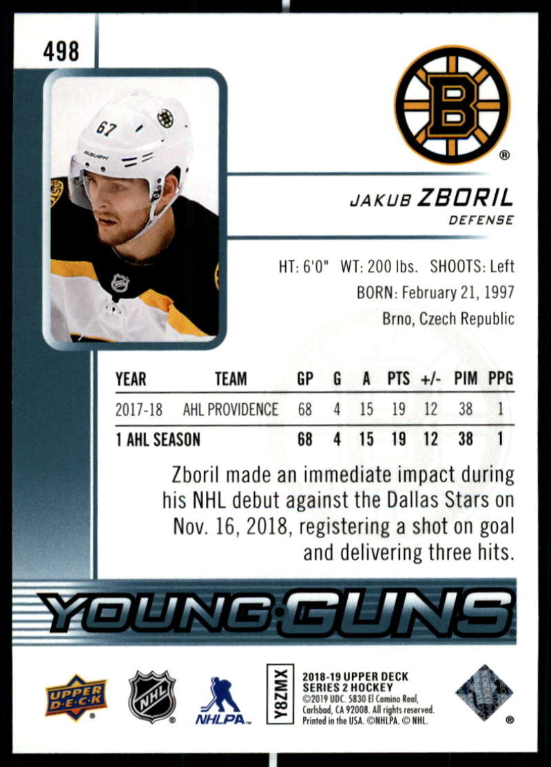 2018-19-Upper-Deck-Series-Two-Hockey-Cards-Pick-From-List-Includes-Young-Guns miniature 475