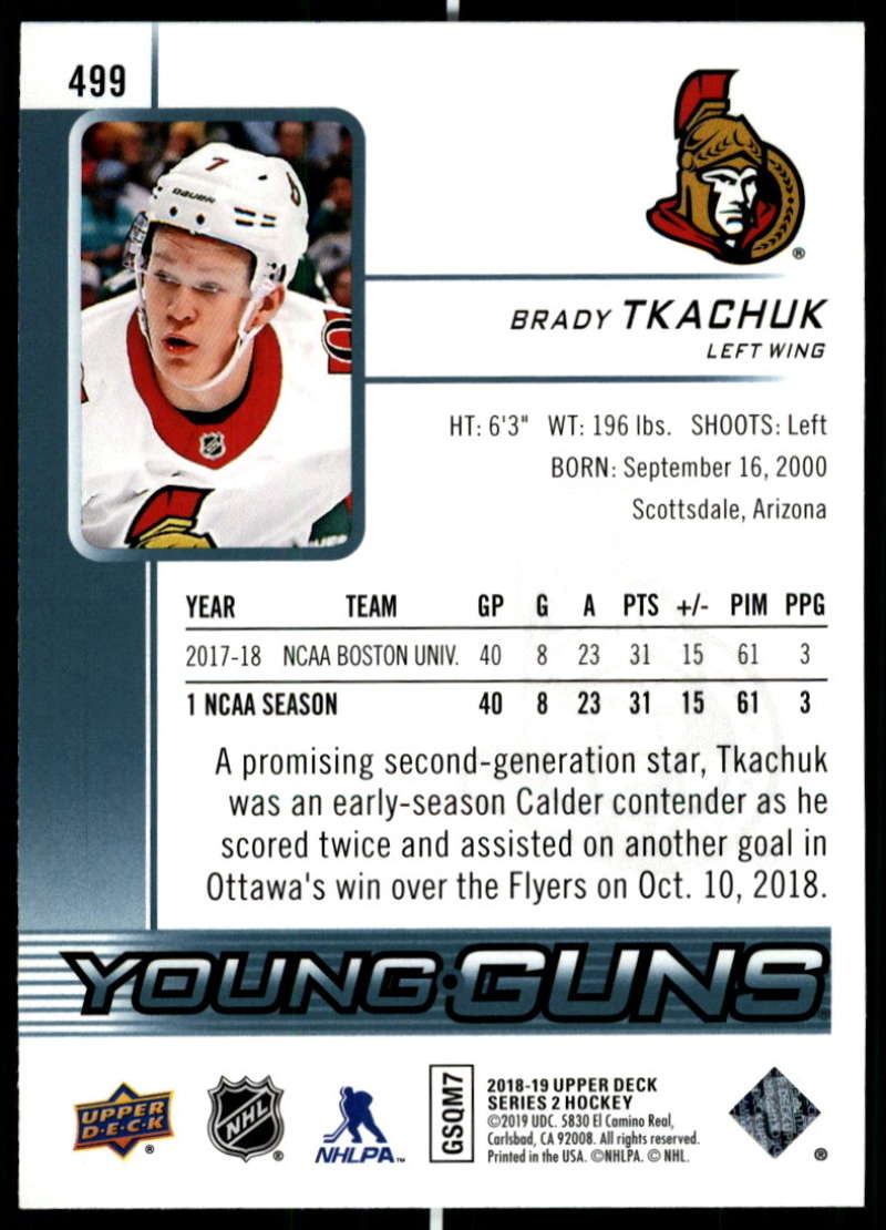 2018-19-Upper-Deck-Series-Two-Hockey-Cards-Pick-From-List-Includes-Young-Guns miniature 477