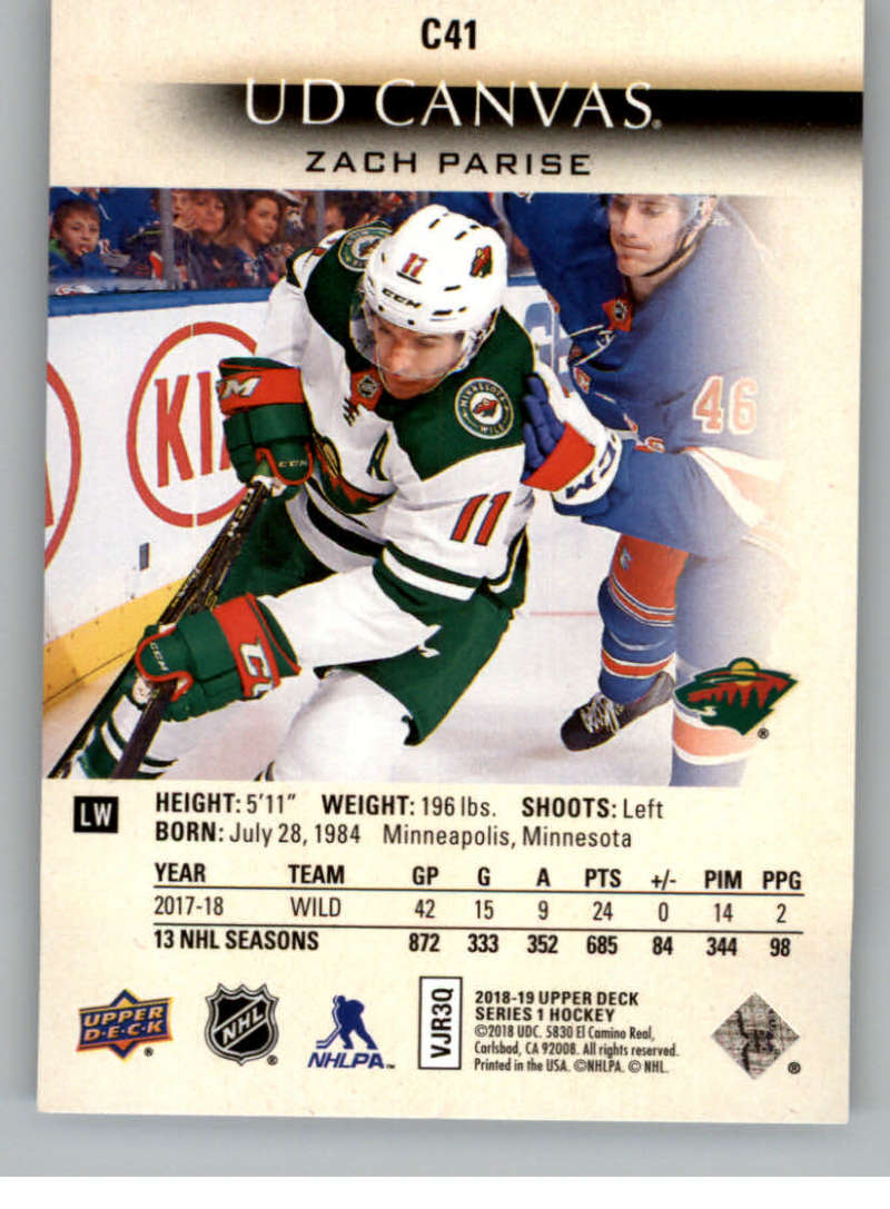 2018-19-Upper-Deck-Canvas-18-19-UD-Series-One-Hockey-Cards-Pick-From-List miniature 47