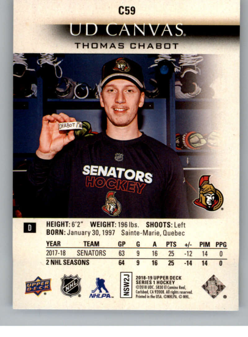 2018-19-Upper-Deck-Canvas-18-19-UD-Series-One-Hockey-Cards-Pick-From-List miniature 73