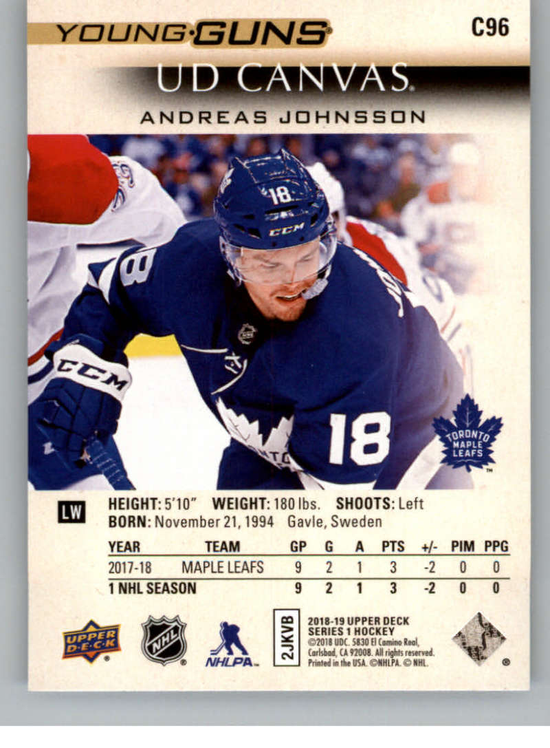 2018-19-Upper-Deck-Canvas-18-19-UD-Series-One-Hockey-Cards-Pick-From-List miniature 111