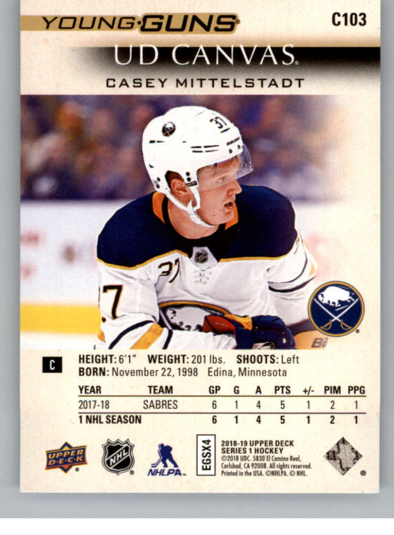 2018-19-Upper-Deck-Canvas-18-19-UD-Series-One-Hockey-Cards-Pick-From-List miniature 113