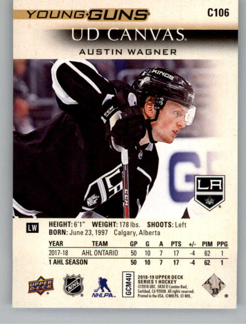 2018-19-Upper-Deck-Canvas-18-19-UD-Series-One-Hockey-Cards-Pick-From-List miniature 117