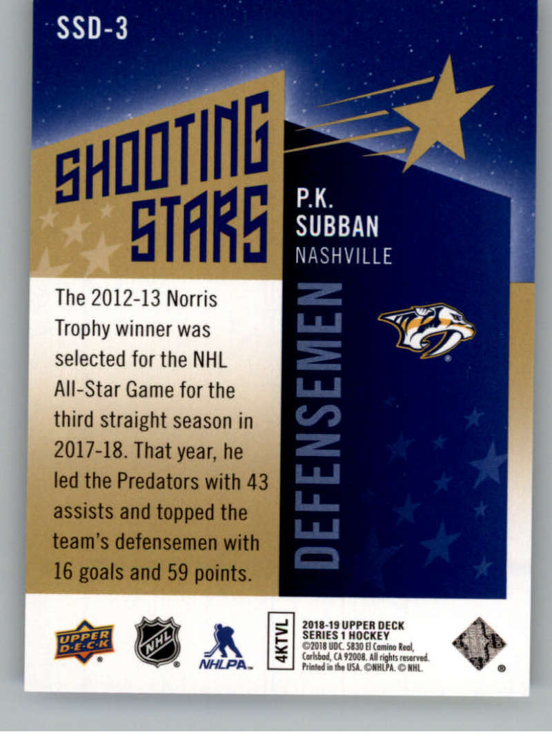 2018-19-Upper-Deck-Shooting-Stars-Blue-or-Black-Insert-Cards-Pick-From-List thumbnail 31