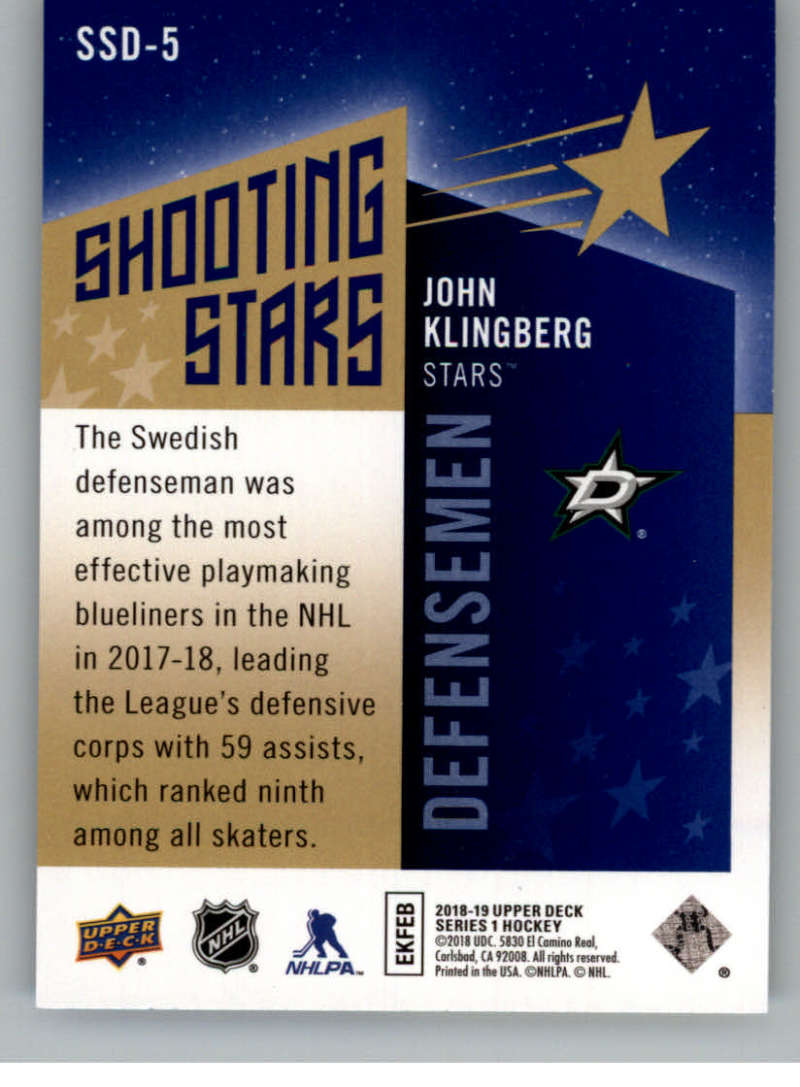 2018-19-Upper-Deck-Shooting-Stars-Blue-or-Black-Insert-Cards-Pick-From-List thumbnail 33