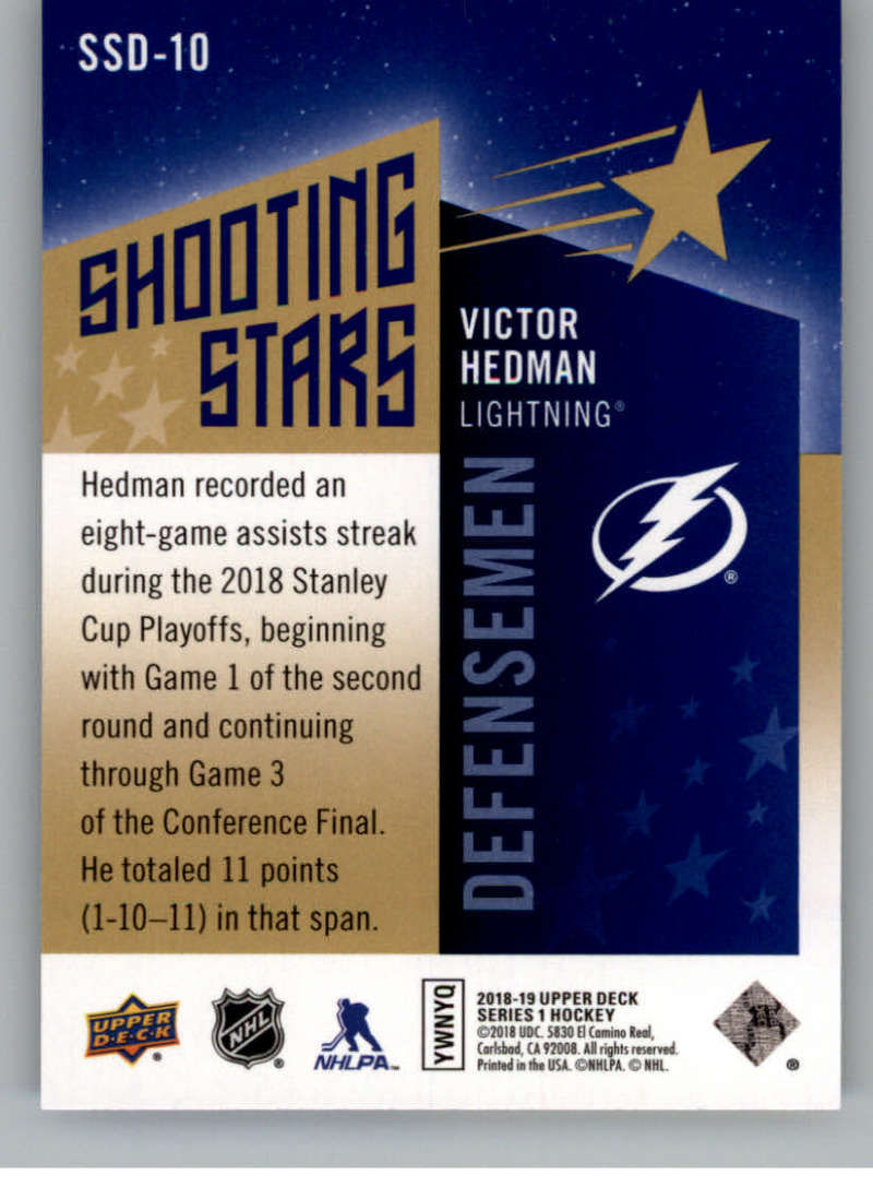 2018-19-Upper-Deck-Shooting-Stars-Blue-or-Black-Insert-Cards-Pick-From-List thumbnail 43