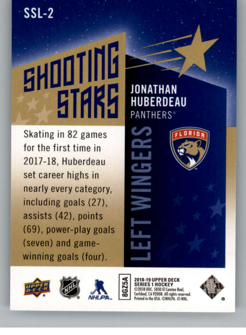 2018-19-Upper-Deck-Shooting-Stars-Blue-or-Black-Insert-Cards-Pick-From-List thumbnail 57
