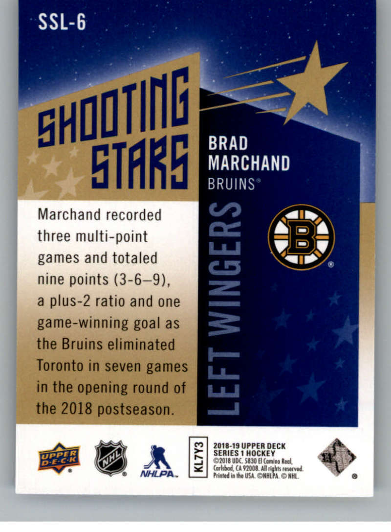 2018-19-Upper-Deck-Shooting-Stars-Blue-or-Black-Insert-Cards-Pick-From-List thumbnail 61
