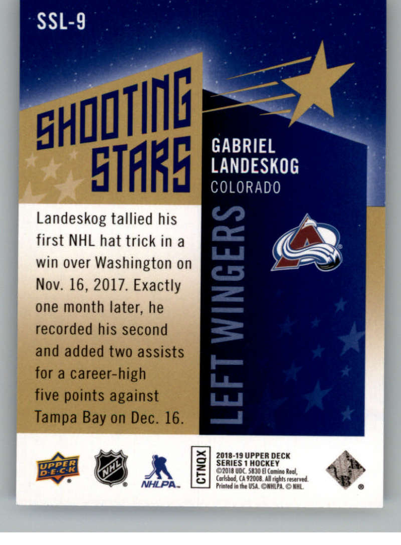 2018-19-Upper-Deck-Shooting-Stars-Blue-or-Black-Insert-Cards-Pick-From-List thumbnail 65