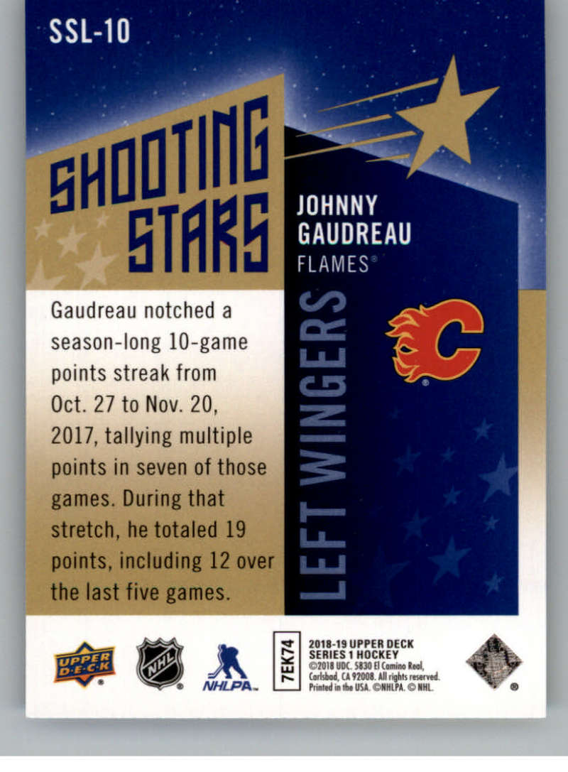 2018-19-Upper-Deck-Shooting-Stars-Blue-or-Black-Insert-Cards-Pick-From-List thumbnail 67
